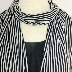 Accessories - STRIPED Jersey Cotton Scarf#hundredsofscarves